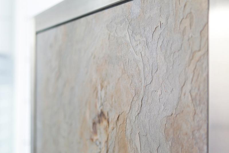 Steinfurnier Design der mobilen Küche Neoculina von Wohnwert Innenarchitektur.