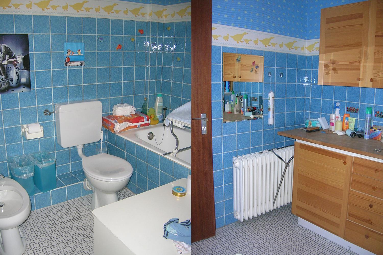 Bad vor der Sanierung durch Wohnwert Innenarchitektur