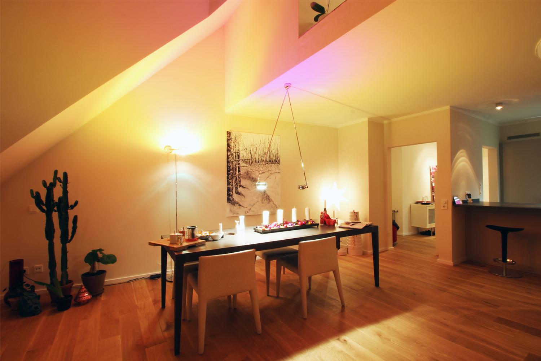 Wohnbereich der von Wohnwert umgebauten Maisonettewohnung