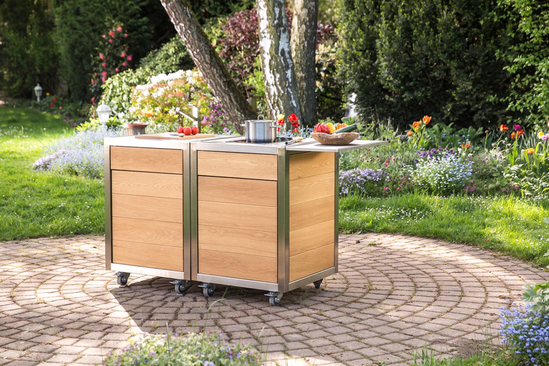 Die mobile Küche Neoculina von Wohnwert im Garten