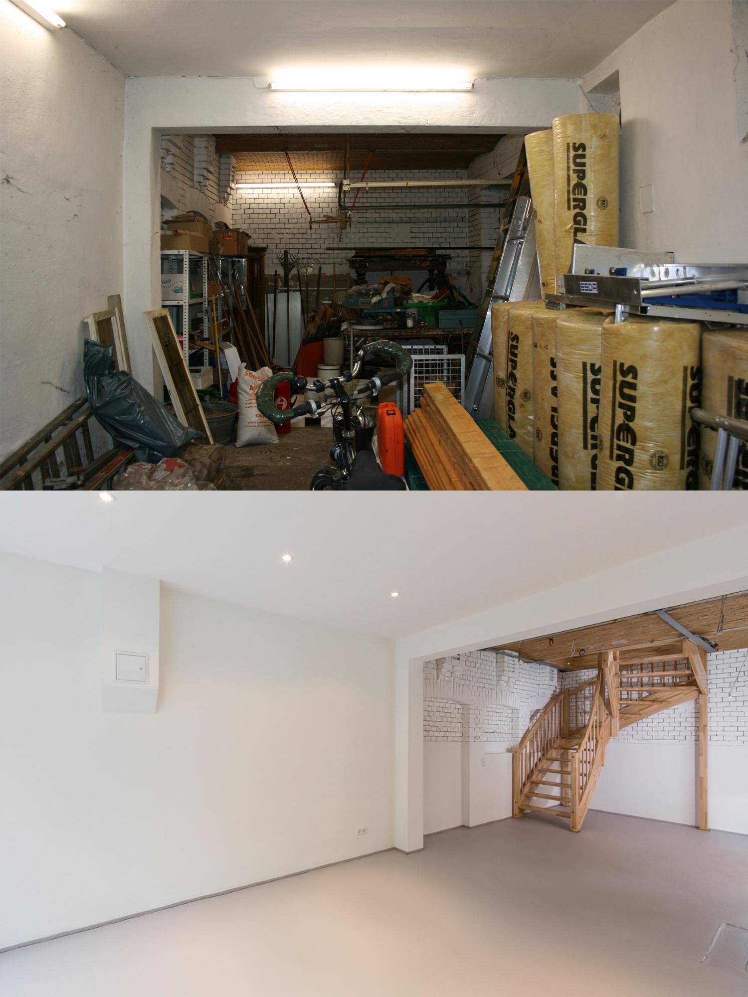 Das Kutscherhaus vor und nach der Sanierung durch das Innenarchitekturbüro Wohnwert