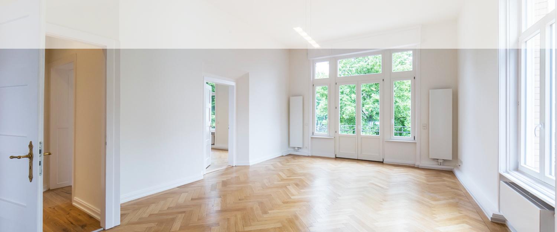 Dielenboden einer von Wohnwert modernisierten Villa