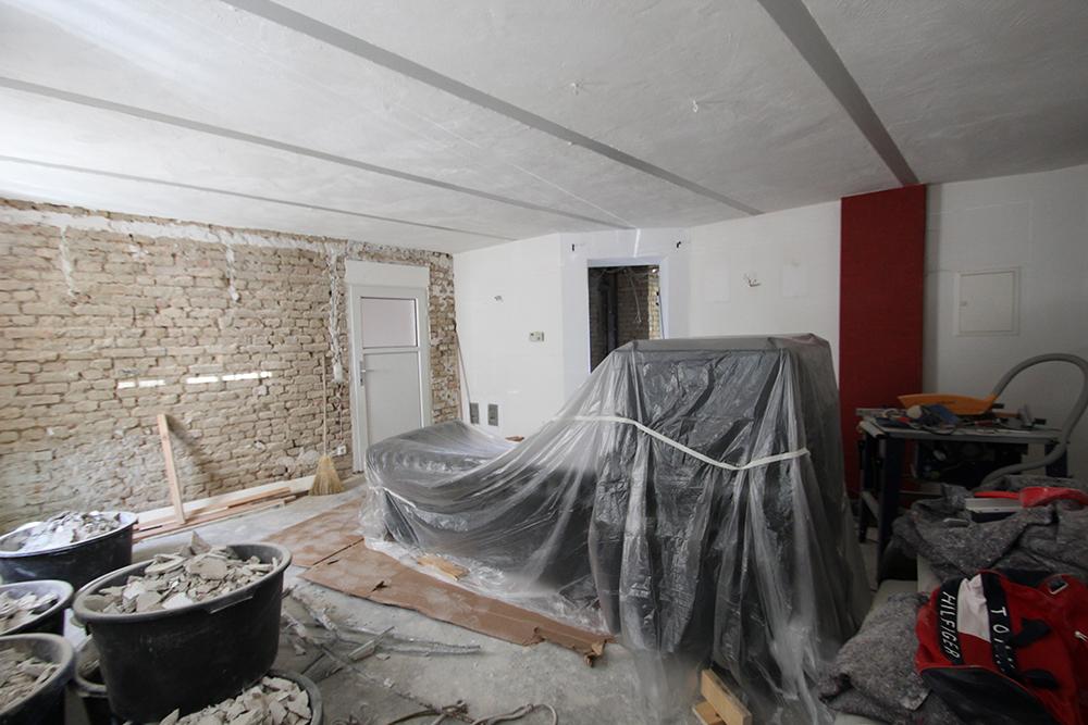 Die Praxis während den umfangreichen Umbauarbeiten durch Wohnwert Innenarchitektur